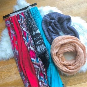 ⚡️ 7 colourful scarves lot ~2 infinity + 5 regular